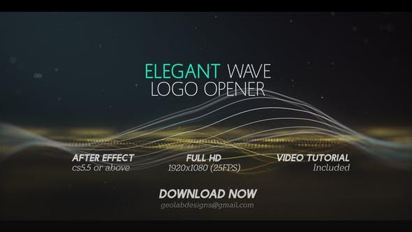 Thumbnail for Elegant Wave Logo Opener  l  Particles Lines Logo Opener