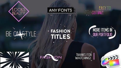 Fashion Titles   FCPX