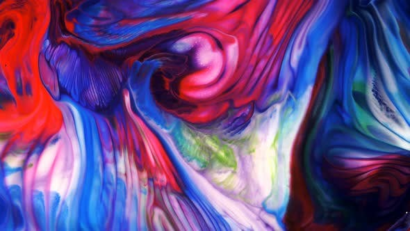 Thumbnail for Abstract Colorful Ink Blast