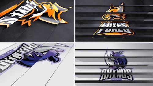 Panel Flip Logo Reveal