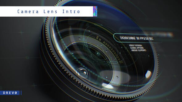 Thumbnail for Camera Lens Intro/ Photographer/ Cameraman/ Camerist/ DOF/ 3D Photo/ Freelancer/ Eye Zoom/ Shutter