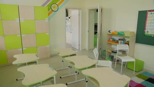 School Class In Quarantine