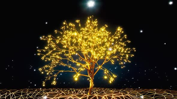 Thumbnail for Gold Glowing Magic Tree