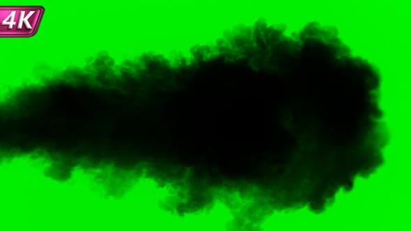 Intense Jet Of Dense Black Smoke