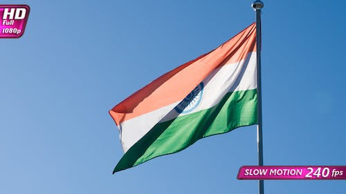 Indian Flag Waves The Wind