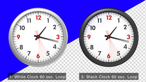 Animierte Uhr
