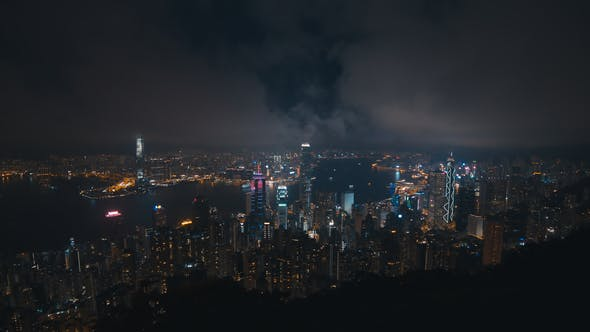 City Night with Cloudy