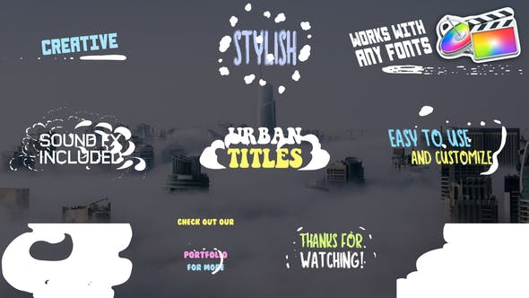 Thumbnail for Urban Titles | FCPX