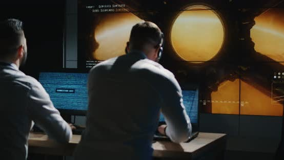 Thumbnail for Technicians Overlooking Mars Mission