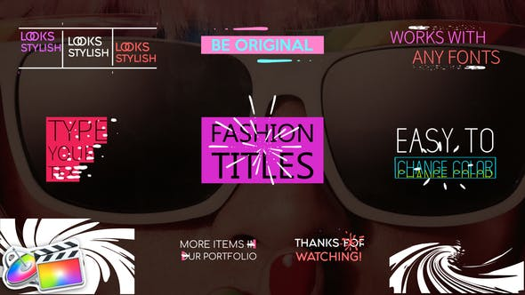 Thumbnail for Juicy Fashion Titles | FCPX