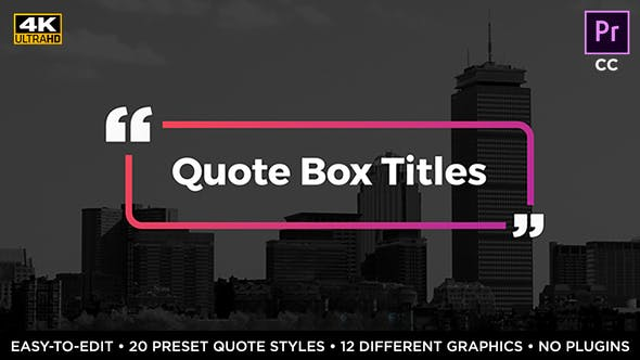 Thumbnail for Quote Box Titles & Lower Thirds • MOGRT for Premiere Pro