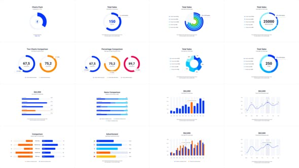 Thumbnail for Infographics Charts Pack