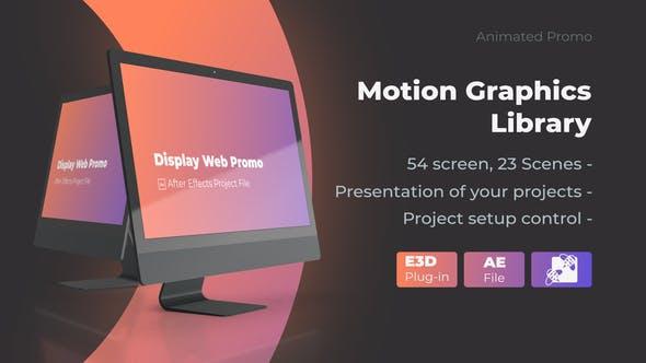 Animated Screen Website Mockup Promo - Pro Mockup Web Presentation