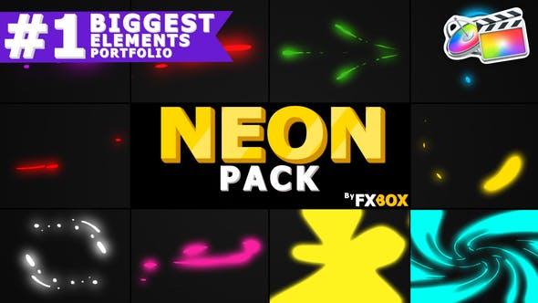 Thumbnail for Neon Shape Elements | FCPX