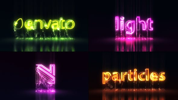Thumbnail for Light Particles Logo | Titles