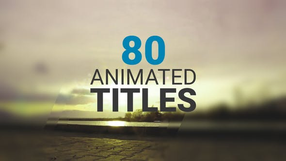 Thumbnail for 80 Animated Titles