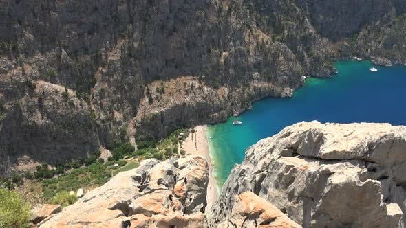 Thumbnail for Deep Rocky Narrow Valley by the Turquoise Sea