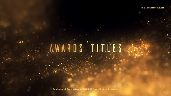 Thumbnail for Golden Glitter Particles Titles