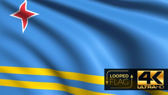 Thumbnail for Aruba Flag 4K