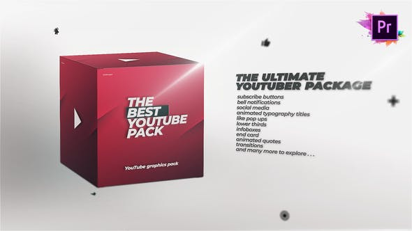 Thumbnail for YouTube Channel Pack - Graphics Library For Premiere Pro