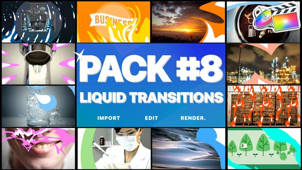 Thumbnail for Liquid Transitions Pack 08 | FCPX