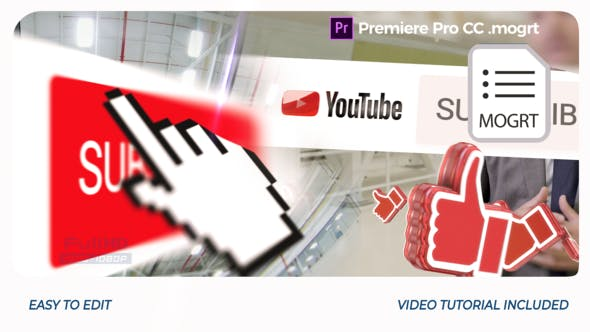 Thumbnail for YouTube Opener // Premiere Pro | Mogrt