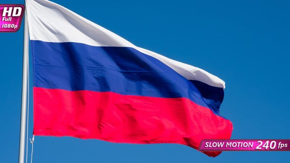 Thumbnail for Russian Flag Waves The Wind