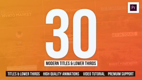 Thumbnail for 30 Modern Titles & Lower Thirds - Mogrt