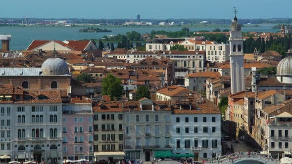 Thumbnail for Aerial View of Amazing Architecture in Venice, Attractions and Tourism, Travel