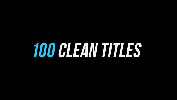 100 Clean Titles │ After Effects Version