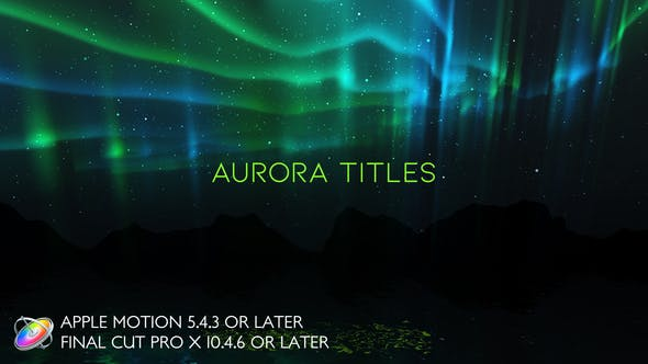 Thumbnail for Aurora Titles - Apple Motion