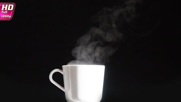 Thumbnail for Weiße Tasse mit einem Heißgetränk