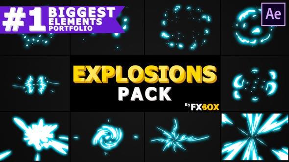 Thumbnail for Elementos de explosión 2D   After Effects