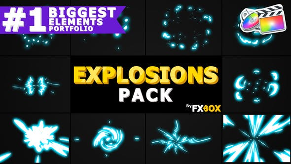 Thumbnail for 2D Explosion Elements | FCPX
