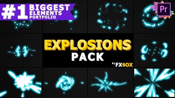 Thumbnail for Elementos de explosión 2D   Premiere Pro MOGRT
