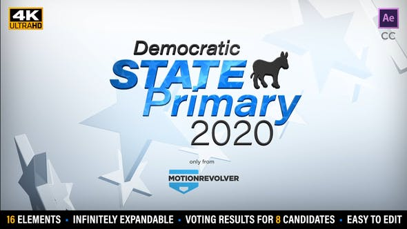 Democratic or Republican State Primary Election Results Kit