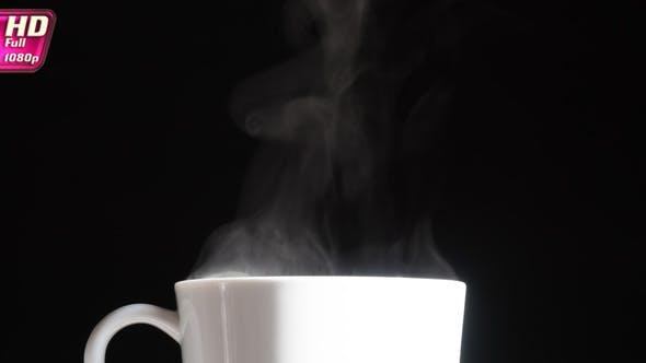 Porzellan Tasse mit Heißgetränk