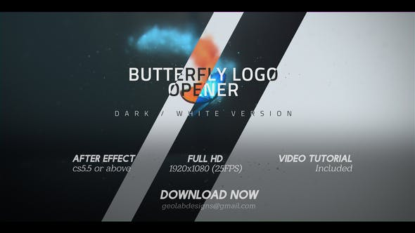 Thumbnail for Butterfly Logo Opener  l  Elegant Logo Opener  l   Flipping Wings Logo Opener