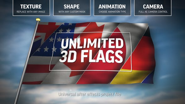 Thumbnail for Unlimited 3D Flags