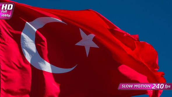 Thumbnail for Turkish Flag Wiggles The Wind