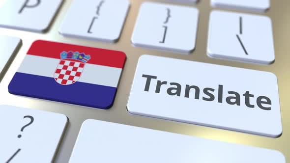 Thumbnail for TRANSLATE Text and Flag of Croatia on the Buttons