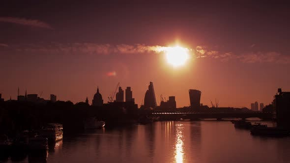 Timelapse london city skyline skyscrapers architecture england urban