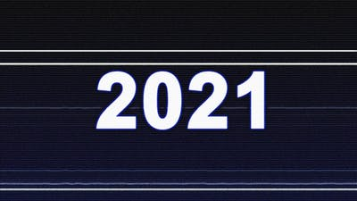 2021 New Year Glitch Text