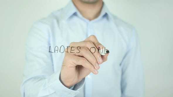 Thumbnail for Ladies Only, Writing On Screen