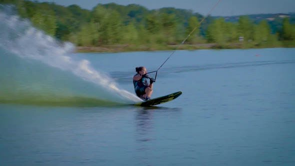 Thumbnail for Athlete Doing Tricks on Wakeboard