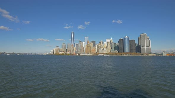 Thumbnail for Panoramic view of Manhattan with skyscrapers
