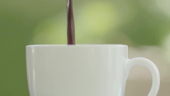 Flowing Black Coffee
