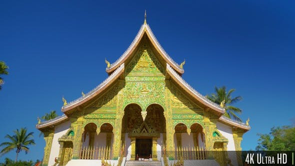 Thumbnail for 4K Front Facade of a Buddhist Temple in Southeast Asia