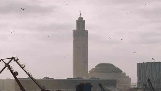 Thumbnail for Hassan II Moschee in Casablanca, Marokko,.