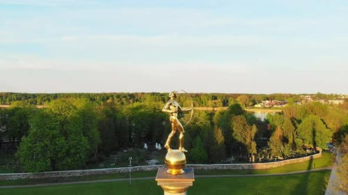 Siauliai City Symbol Golden Boy Statue